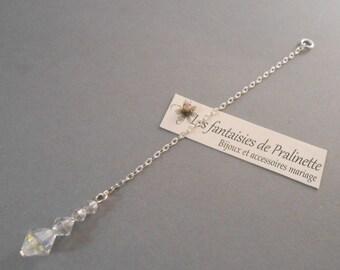 Bijoux mariage de dos chaine et cristal, pendentif mariage de dos, accessoires mariées, bijoux mariées, Bridal jew backdrop necklace crystal