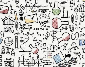 Science Fabric; You Choose Size; C4367; Novelty Fabric; Timeless Treasures; Chemisty, Physics; Teacher Fabric