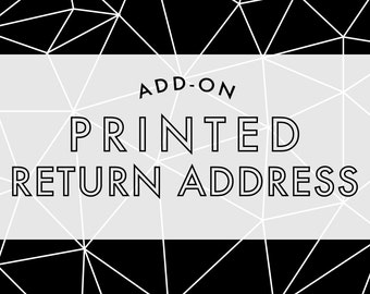 Add-On Listing for Notecards - Printed Return Address