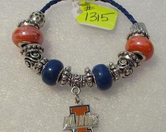 1315 - NEW - University of Illinois Bracelet