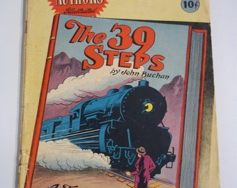 Stories By Famous Authors Illustrated The 39 Steps Vintage Comic Book 1950 VG