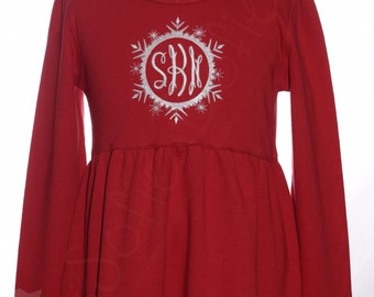 Christmas Dress with Monogram