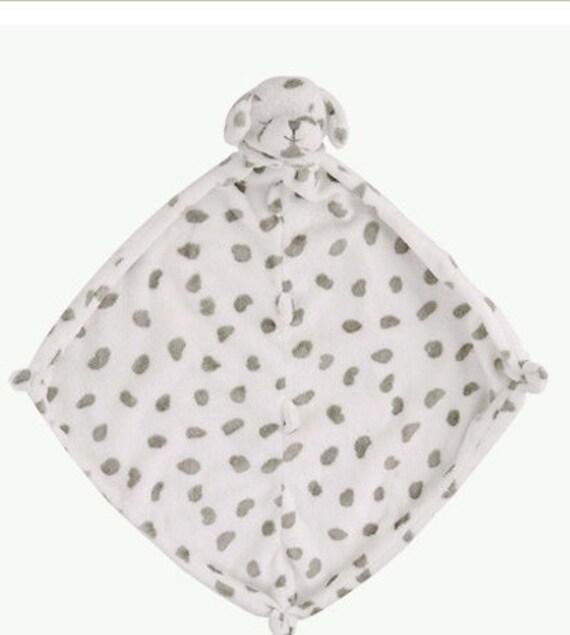 monogrammed dalmation lovie    angel dear    personalized blankie    security blanket    baby