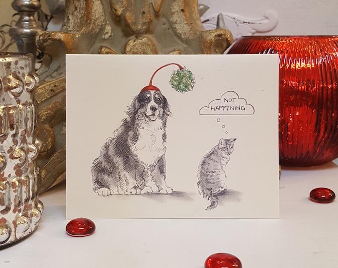 Bernese Mountain Dog Holiday Card