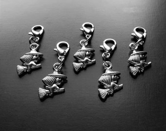Witch Dangle Charm for Floating Lockets, Necklaces, or Bracelets-1 Piece-Gift Idea