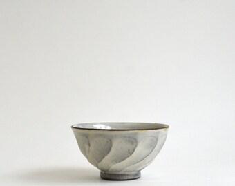 Shinogi Chawan S - Faceting Patterned Rice Bowl (S), Made  to Order in 3 months / Fumika Miyake (13003115-1)