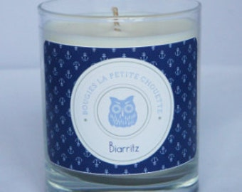 Candle scent marine, Biarritz, soy wax, 200g