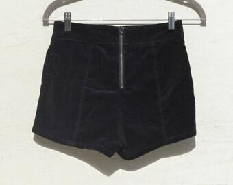 Velvet High-Rise Shorts