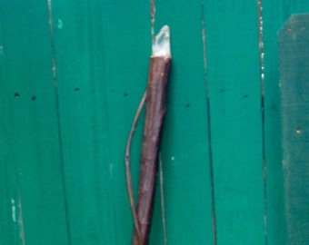 Tall Ironwood MageStaff- Crystal-topped Vine-wrapped Ironwood Wizard Staff