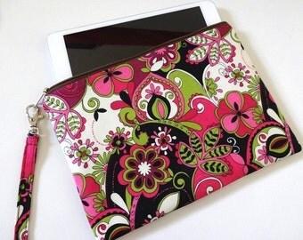 iPad mini Zipper Wristlet, Pouch, Bridesmaid Gift, Wristlet Clutch, Cosmetic, Makeup Bag - 16 x 4 Selections, Bird, Butterfly, Flower, Bike