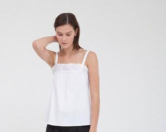 White strap top