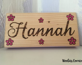 Baby name sign, Personalized Nursery decor, WOOD BURNED sign, Rustic nursery decor, New baby gift, Custom baby sign, Custom nursery decor