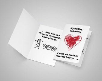Human Centipede Valentine's day card