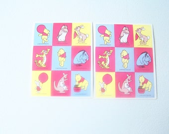 Two sheets Hallmark Walt Disney Productions Winnie the Pooh Tigger Piglet stickers