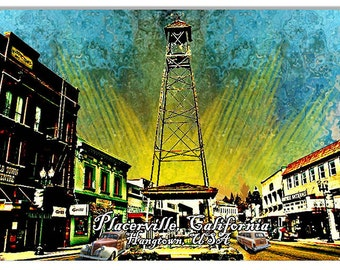 Sunset in Placerville 12''x18'' sign RG7710