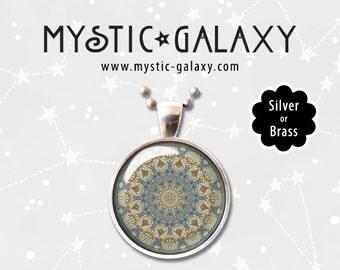 Mandala Necklace, Mandala Pendant, Boho Necklace, Hippie Jewelry, Yoga Necklace, Mandala #004