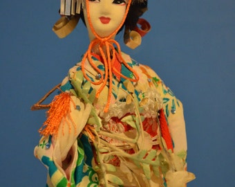Paper Chinese Doll with Crystals