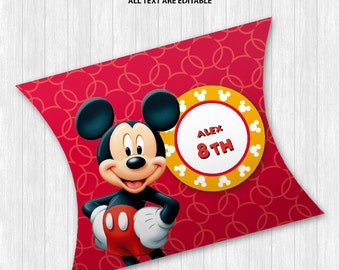 Mickey Mouse Pillow Boxes