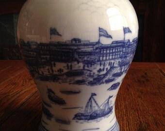 Asian Jar Harbour Scene