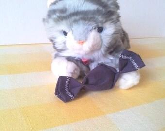 Catnip Cat Toy Catnip Kitten Toy Durable Cat Toy Purple Beanbag Toy Handmade Cat Toy Upcycled Denim