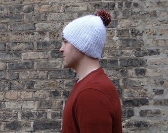 Knit Beanie with Pom Pom - 10 Colors!