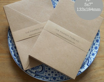 200 Kraft Envelopes 5x7 Envelopes A7 Kraft Recycled Bulk Rustic for wedding invitations card making supplies True size 5.1/4x7.1/4 133x184mm
