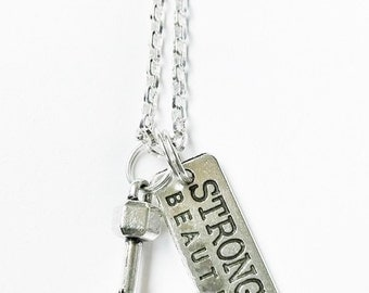 Strong Is Beautiful Charm Necklace