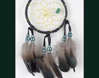 Small Dreamcatcher, Authentic Dream Catcher, Native American Dreamcatcher, Black Dreamcatcher