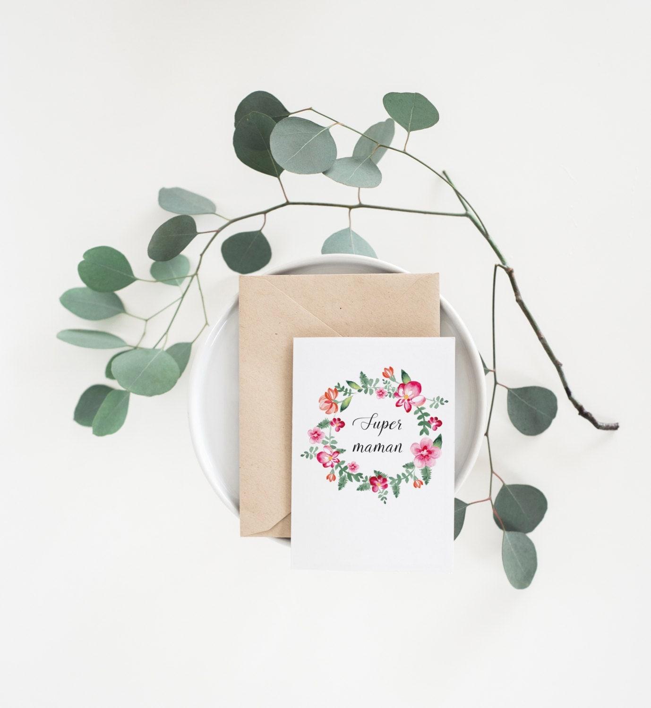 carte postale t l charger super maman carte offrir carte. Black Bedroom Furniture Sets. Home Design Ideas