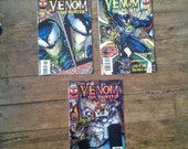 Venom: The Hunted; Vol 1, 1 - 3 Modern Age  Limited Series Comic Book Lot. NM-. 1996.  Marvel Comics