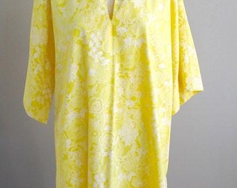Lemon Yellow Beach Tunic - Swimsuit Coverup -