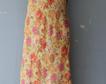 Vintage 90s Slip Dress/Floral/Deadstock/