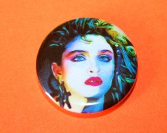 Vintage 1980s Style Madonna Button Pin Badge