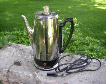General Electric GE Universal 10 Cup Percolator Immersible Electric Coffee Pot