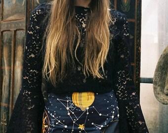 Blue Celestial Mini Skirt