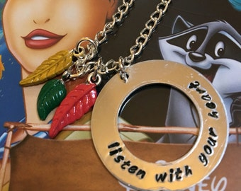Listen With Your Heart Pocahontas Necklace