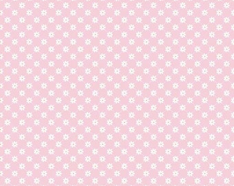 Pink Floral Fabric, Riley Blake C4816 Pink Lattice, Dream and a Wish, Pink & White Cotton Fabric, Sandra Workman, Pink Quilt Fabric Yardage