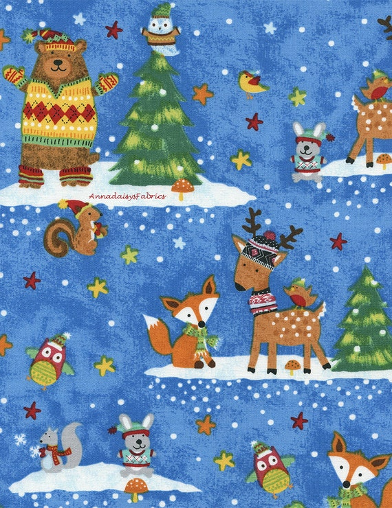 Childrens christmas fabric timeless treasures gail cadden for Childrens quilt fabric