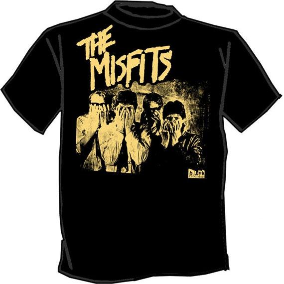 Misfits silk screened t shirt glenn danzig screen printed punk for Silk screen tee shirts online