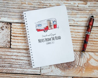 Travel Journal Personalized Spiral Notebooks Custom RV Trailer Camping Journal Travel Gifts Personalized Gifts Stocking Stuffer NB2016