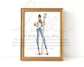 Art of Your World (Fashion Illustration Print)