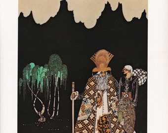 Kay Nielsen vintage art nouveau print illustration Norwegian folk tale fairy tale home decor The Widow's Son 8.5x11.5 inches