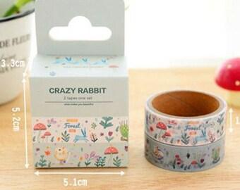 Rabbit washi tape set