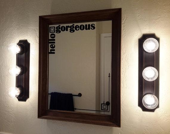 Bathroom mirror decals