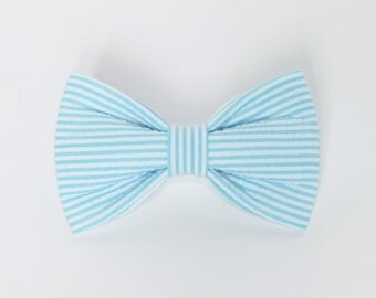 Seersucker Dog bow tie, Cat bow tie, pet bow tie, collar bow tie, wedding bow tie