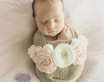 Newborn Photo Prop Maternity Sash Belt Ivory Sash Ivory Belt Sash Flower Girl Sash Belt Wedding Sash rhinestone sash flower sash Photo Prop