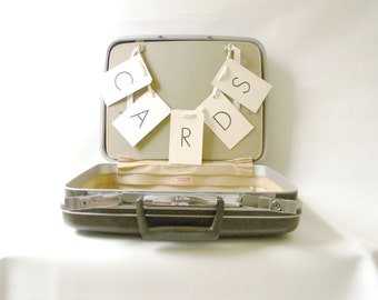 Vintage Brown Samsonite Suitcase/ Wedding Card Holder