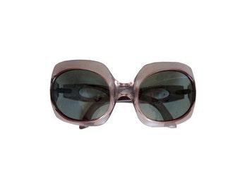 70's Round Sunglasses / Oversized Sunglasses / 1970s Sunglasses