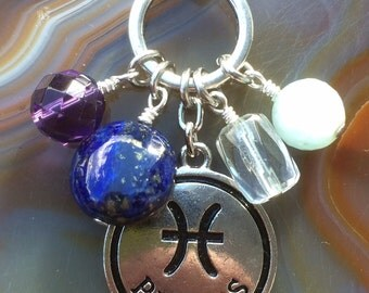 Pisces Astrology Stone Necklace