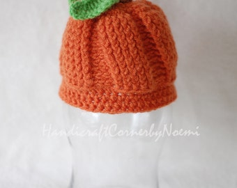 Pumpkin crochet hat
